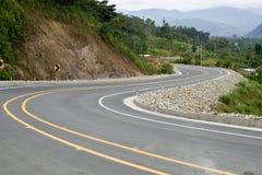Modern road in the andes, Ecuador Stock Photos