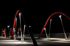 Modern Road Bridge at Night Royalty Free Stock Photography