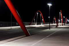Modern Road Bridge at Night Royalty Free Stock Image