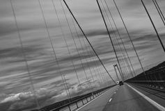 Modern road bridge in Sweden Royalty Free Stock Photos