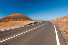 Modern road on Fuerteventura Royalty Free Stock Photos