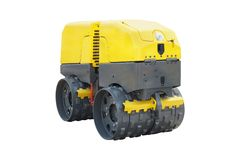 Modern road roller Royalty Free Stock Photography