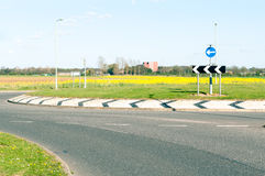 Modern road and roundabout Royalty Free Stock Photography