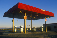 Modern roadside gas station Stock Images