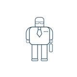 Modern Robot Business Man Futuristic Mechanism Thin Line Royalty Free Stock Image