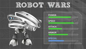 Modern robot design with feature board. Illustration Royalty Free Stock Photos