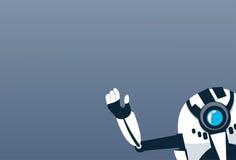 Modern Robot Waving Hand Artificial Intelligence Futuristic Mechanism Technology stock illustration