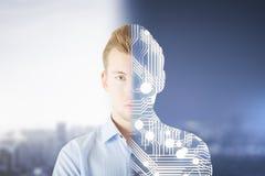 Modern robotics concept Stock Image