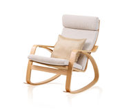 Modern rocking chair and cushion Royalty Free Stock Photography
