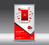 Modern Roll Up Banner display Poster layout Ads Mobile infograph Stock Images