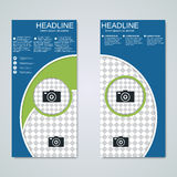 Modern roll-up banners vector design Royalty Free Stock Image