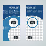 Modern roll-up banners vector design Royalty Free Stock Photos