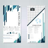 Modern roll-up banners vector design Stock Photography
