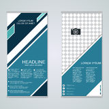 Modern roll-up banners vector design Royalty Free Stock Photo