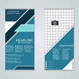 Modern roll-up banners vector design Royalty Free Stock Images