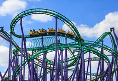 Modern Roller Coaster Amusement Park royalty free stock image