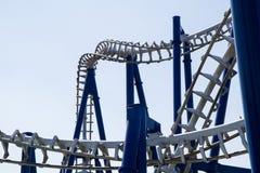Modern roller coaster amusement park Italy stock photography