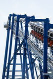 Modern roller coaster amusement park Italy Royalty Free Stock Photography