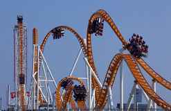 Modern Rollercoaster Arkivfoto