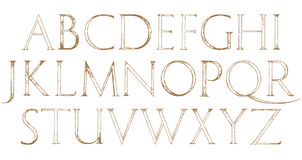 Modern Roman Classic Alphabet Stock Photography