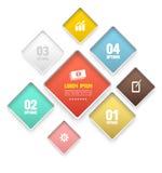 Modern rond het Ontwerpmalplaatje van de rechthoek zacht kleur Stock Foto