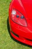 Modern rood korvet stock foto's