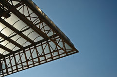 Modern roof. A modern roof of a bussines center Royalty Free Stock Images