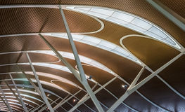 Modern roof. A part of structure of the roof in modern style Royalty Free Stock Photography