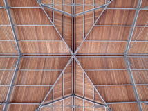 Modern roof of a port harbor made steel wood Royalty Free Stock Image