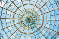 Modern roof of shopping center in Minsk, Belarus Royalty Free Stock Photo