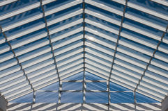 Modern roof steel glass structure Stock Image
