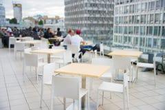 Modern rooftop restaurant Stock Photography