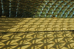 Modern rooftop and shadow. Modern rooftop and structure shadows Stock Image