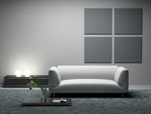 Modern room stock illustration