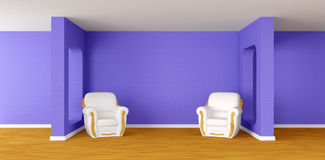 Modern room with  armchairs Royalty Free Stock Images