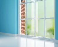 Modern room, big window. Royalty Free Stock Photo