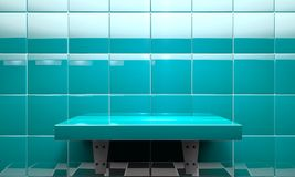 Modern room and counter or table for product.3d illustration Royalty Free Stock Photo