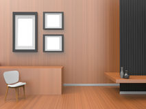 Modern Room of home office Composition Art / living room Contemporary. Composition Concept Royalty Free Stock Photo