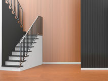 Modern Room of home office Composition Art / Living room and staircase Stock Image