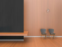 Modern Room of home office Composition / Living room Contemporary Minimal Art Royalty Free Stock Photo