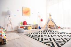Modern room interior. For child stock image