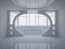 Modern room with loggia and decorative partition Royalty Free Stock Photography