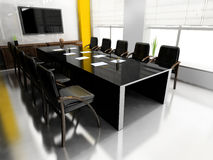 Modern room for meetings. 3d render Royalty Free Stock Photography
