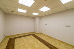Modern room in the office building without finishing Stock Photos