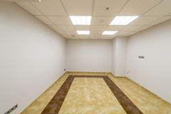 Modern room in the office building without finishing Stock Image