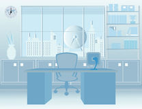 Modern Room Office interior. Stock Image