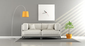 Modern room with sofa Stock Photography
