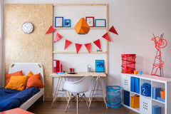 Modern room for teenager. Interior of modern stylish room for teenager Royalty Free Stock Image