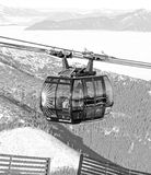 Modern ropeway FUNITEL at hill Chopok - Low Tatras, Slovakia Royalty Free Stock Photos