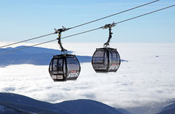 Modern ropeway at hill Chopok - Low Tatras, Slovakia Royalty Free Stock Photography